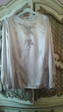 Yves St Clair beige Blouse with design SZ 16