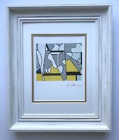 "ROY LICHTENSTEIN + 1981 SIGNED  BEAUTIFUL PRINT MATTED 11"" X 14"" + BUY!"