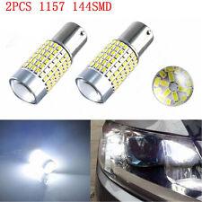 2x 1157 LED Bulbs Turn Signal Backup Reversing Lights 144SMD 3014 Super White