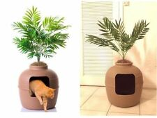 Hidden Cat Litter Box Toilet Clay Flower Pot Plant Large Capacity Furniture Wash
