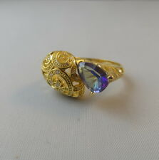Mystic Topas Weisstopas Silberring Ring Silber vergoldet Gold 925 Gold NEU !!!