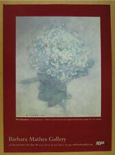 2001 Piet Mondrian 'A Chrysanthemum' painting NYC gallery vintage print Ad