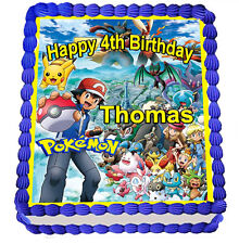 POKEMON  EDIBLE  ICING  CAKE TOPPER PARTY IMAGE FROSTING SHEET