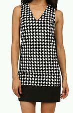 NEW! Michael Kors Houndstooth Colorblocked Sutter Sleeveless Shift Dress Size 12