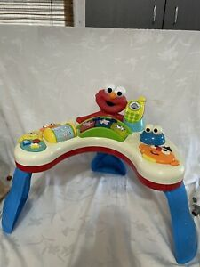 Vtg RARE Sounds Sesame Street Sit to Stand Activity Table Fisher Price Elmo Play