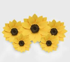 Decor In The Box 5 Piece Handmade Paper Flower Set Fully Assembled -Sunflower