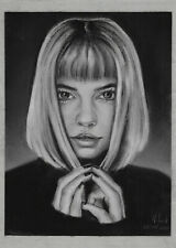 original drawing 20 x 28,5 cm 206LN art samovar Pastel female portrait Signed