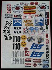 1/10 RC Stickers Decal Sheet Precut Customized Sand Scorcher Mixed sheet A B C