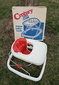 Vintage Baby Walker Feeder by Century Original Box & Paperwork Red Super Coupe