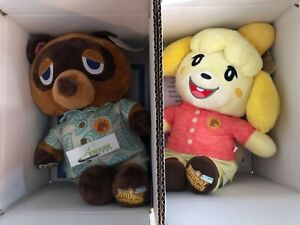 Build-a-Bear Animal Crossing New Horizons Tom Nook & Isabelle w/ Theme Music Set