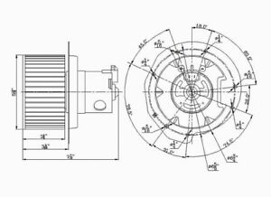 HVAC Blower Motor Front TYC 700146