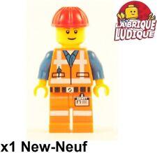 Lego Figurine Minifig movie city ouvrier worker chantier emmet casque rouge NEUF
