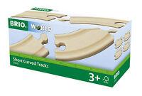 4 corto arqueada Pistas Brio 33337 CURVAS Tren de madera NUEVO