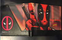 Stylish NEW Marvel Comic Deadpool Ninja Thumb Up Bi Fold Wallet