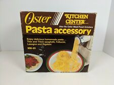 Oster Kitchen Center Pasta Accessory Kit 939-65 w/Original Box and Extras