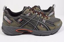 ASICS Men's Gel-Venture 5 Trail Runner Dusky Green/Black/Cinnamon 8.5 M US
