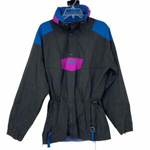 VTG Columbia Adult M Black Teal Purple Radial Sleeve Outdoors Jacket Ski Snow