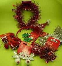 12 teilig Weihnachten Nikolaus Damen Mädchen Haarclips Haarreifen Ohrringe - NEU