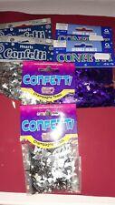 Table Confetti Silver/Purple - 6 packets