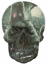 Gothic Skull Double Exposure Fantasy Army Fighters View Wall Sticker Mural 935