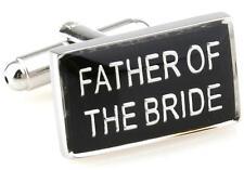 Father Of The Bride Pair Cufflinks Wedding Fancy Gift Box & Polishing Cloth