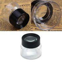 10x Juwelier Schmuck Lupen Vergrößerungs-glas Labor Reparatur Uhrmacher Lup V0F9