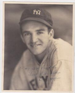 vtg 1930s original Don Heffner signed George Burke 8x10 photo Yankees