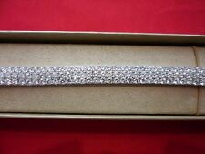 3-Row Simulated Round Diamond Bracelet in 925 Sterling Silver-30.00 Carats