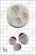 Silicona Molde Mini Santa Caras | uso alimentario FPC Sugarcraft Envío Reino Unido!