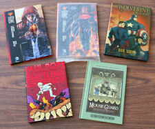 Mixed Lot Graphic Novels Books Pope Superman Wolverine Mouse Guard Nice KJ