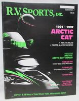 Vintage RV Sports Inc Catalog 1991-1992 Arctic Cat Snowmobile Parts Accessories