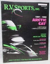 Vintage R V Sports Inc Catalog 1991-1992 Arctic Cat Snowmobile Parts Accessories