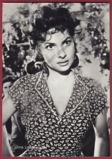 GINA LOLLOBRIGIDA 45 ATTRICE ACTRESS CINEMA MOVIE STAR PEOPLE Cartolina FOTOGRAF