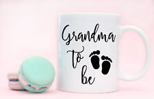 Pregnancy Birth Announcement Grandma To Be Coffee Mug Cup Mothers Day Present