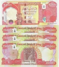 FIRST TIME IN USA-2018 IRAQ  4 x 25000 = 100000 NEW DINARS IRAQI IQD-CERTIFIED
