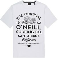 O'NEILL MENS T SHIRT.MUIR WHITE SHORT SLEEVED ORGANIC COTTON TEE TOP 9S 34/1010