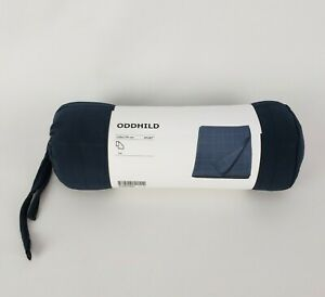 Ikea Oddhild Throw Cover Dark Blue Blanket Sofa Fleece Bed Travel Throwover New