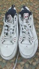 JORDAN 3  WHITE VARSITY RED  MIDNIGHT NAVY CEMENT GREY SHOES SNEAKERS SIZE 11 US