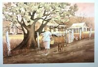 """The Road Home"" Louisiana Mud Painting by Henry Neubig Signed & Numbered"