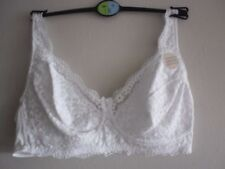 Brand New Ex M&S Cotton Rich Vintage Lace Non-Wired Bra Sizes 34-42 AA-DD White