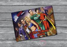 Personalised Big Bang Theory Superhero Sheldon Birthday Card Greeting card • A5
