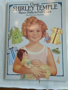 Vintage Classic Shirley Temple Paper Dolls in Full Color Book