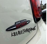 John Cooper Works Badge 13.CMx2.5CM Black White Red Style - JCW MINI COOPER R58