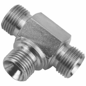Equal BSPP Male Tee for Bonded Seal 60° Cone. Variety of Sizes Hyrdaulic Adaptor