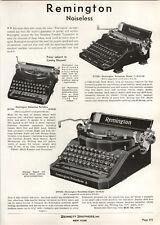 1937 PAPER AD Remington Noiseless 8 7 New Royal Model Portable Deluxe Junior JR