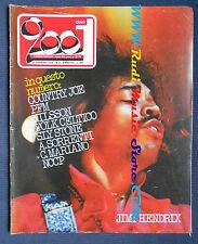 rivista CIAO 2001 2/1975 Jimi Hendrix Alan Sorrenti Mike Oldfield NCCP PFM No cd