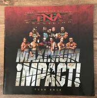 TNA x9 SIGNED AUTOGRAPH 2010 WRESTLING PROGRAMME KURT ANGLE CHAMPION BELT WWE Et