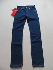 Indigo -/dark-washed Herren-Jeans mit mittlerer Bundhöhe Hosengröße W31