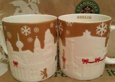 Starbucks Mug/Tasse/Becher BERLIN Relief gold/weiss, Xmas, Neu&unbenutzt m.SKU!!