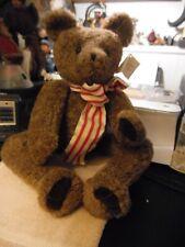 """22"""" curly faux fur bear by artist Kintzie bears"""